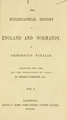 Download The ecclesiastical history of England and Normandy.