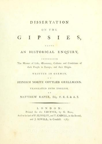 Download Dissertation on the Gipsies