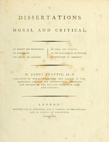Download Dissertations moral and critical.