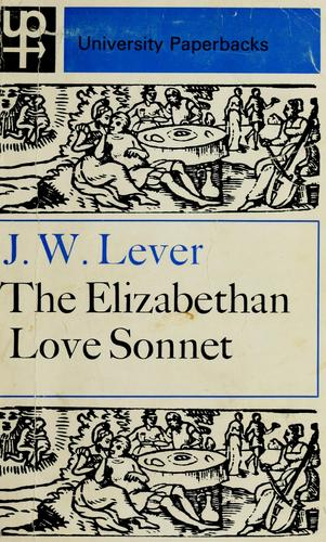 Download The Elizabethan love sonnet