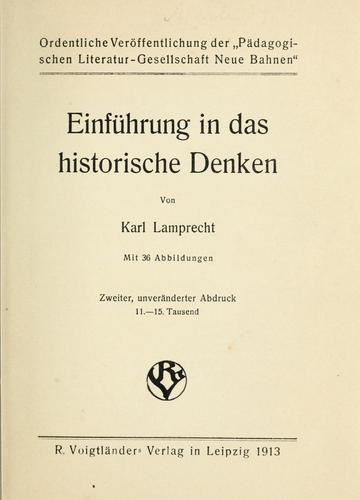 Download Einführung in das historische Denken