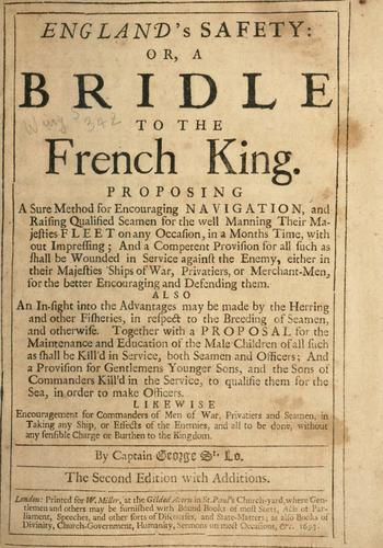 Download England's safety, or, A bridle to the French king …