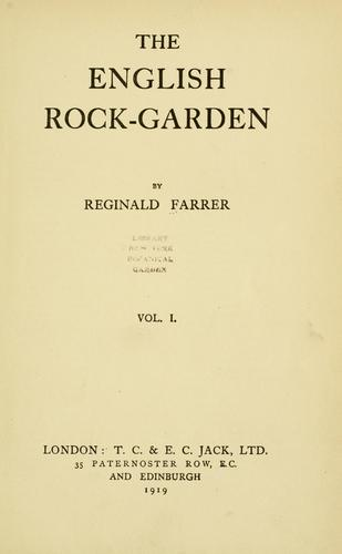 Download The English rock-garden