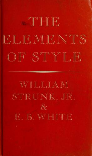 The elements of style.