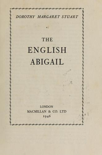 Download The English Abigail.