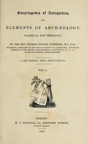 Download Encyclopedia of antiquities
