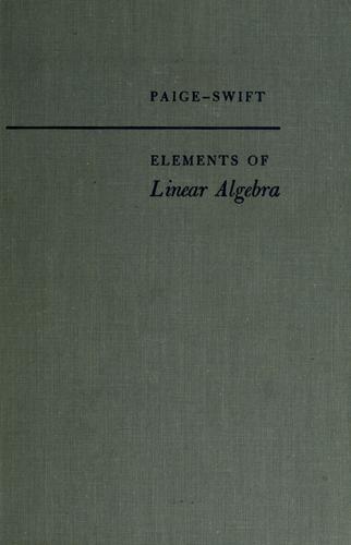 Download Elements of linear algebra