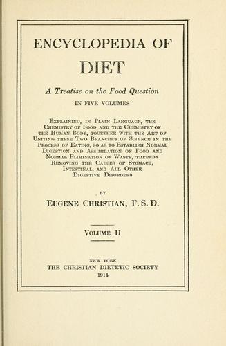 Download Encyclopedia of diet