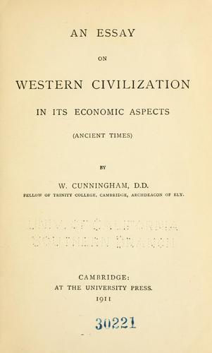 Download An essay on western civilization in its economic aspects …