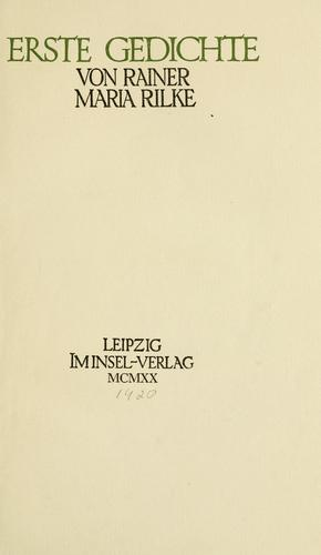 Download Erste Gedichte.
