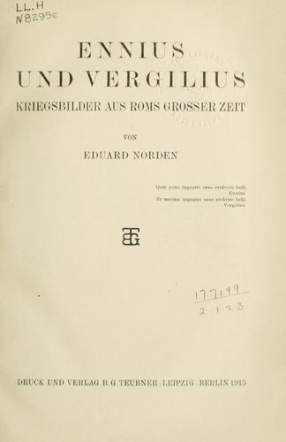 Download Ennius und Vergilius