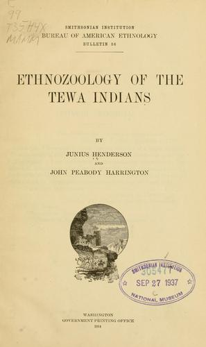 Download Ethnozoology of the Tewa Indians