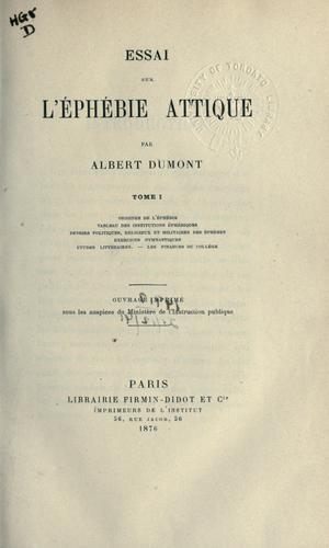 Download Essai sur l'éphébie attique