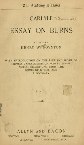 Essay on Burns