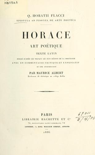 Epistula ad Pisones de arte poetica
