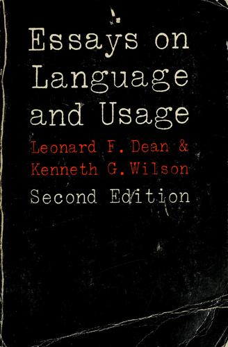 Essays on language and usage