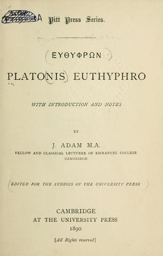 Euthyphron.