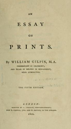 An essay on prints.