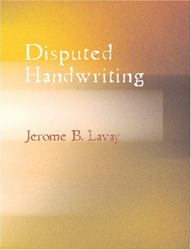 Download Disputed Handwriting (Large Print Edition)