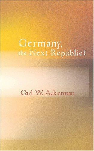 Germany – The Next Republic?