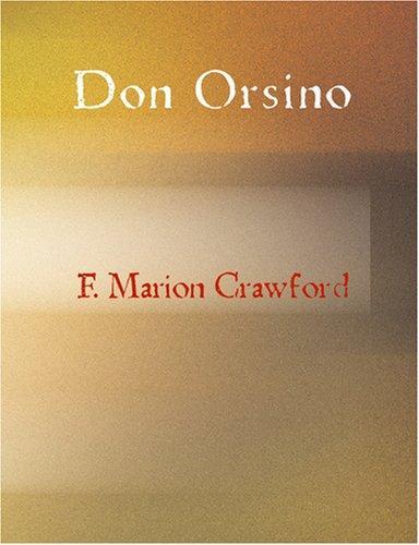 Don Orsino (Large Print Edition)