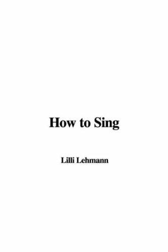 Download How to Sing