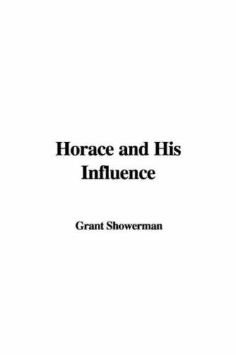 Download Horace and His Influence