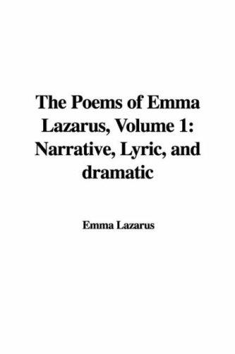 Download The Poems of Emma Lazarus, Volume 1