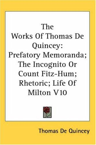 Download The Works of Thomas De Quincey