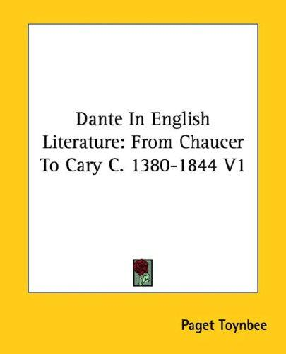 Dante In English Literature