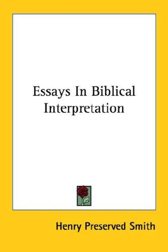 Essays In Biblical Interpretation
