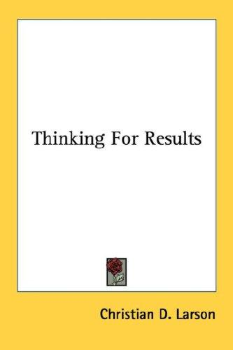 Download Thinking For Results