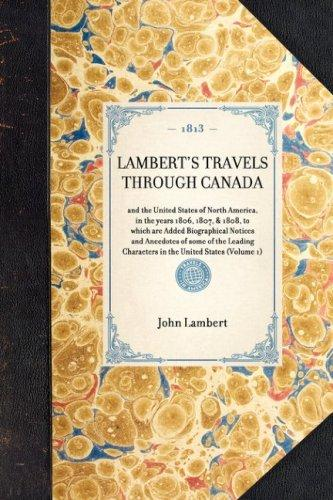 Download Lambert's Travels Through Canada