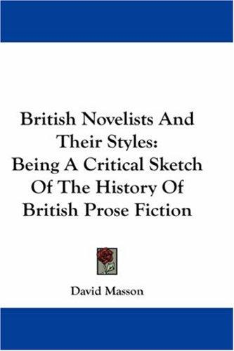 Download British Novelists And Their Styles