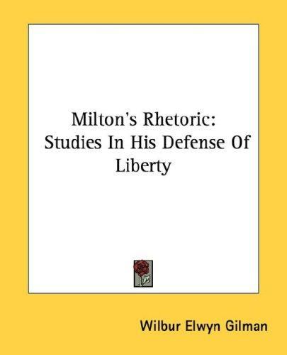 Download Milton's Rhetoric