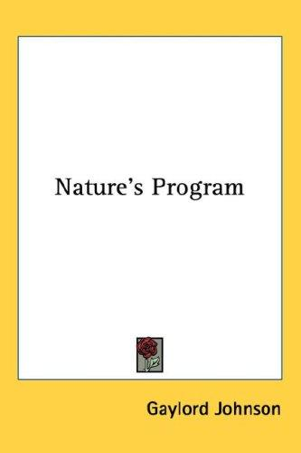 Download Nature's Program