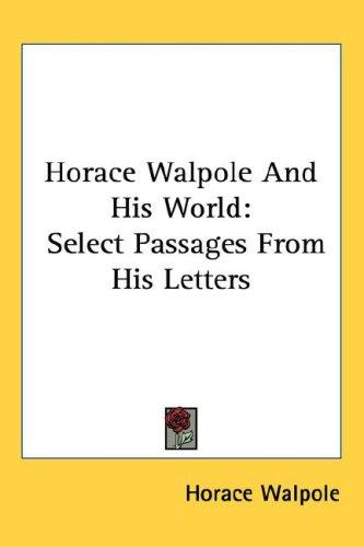 Download Horace Walpole And His World
