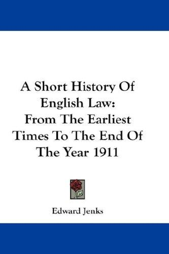 Download A Short History Of English Law