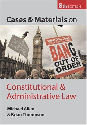 Download Cases and materials on constitutional and administrative law