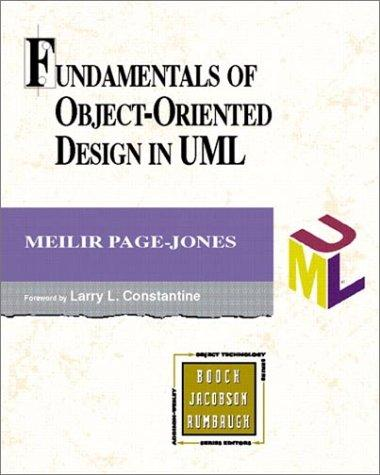 Fundamentals of Object-Oriented Design in UML Meilir Page-Jones