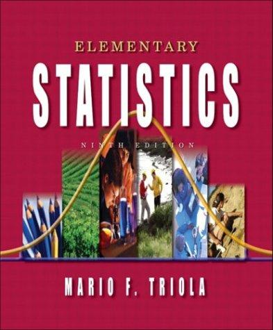 Download Elementary statistics
