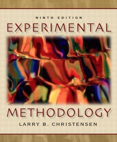 Download Experimental methodology