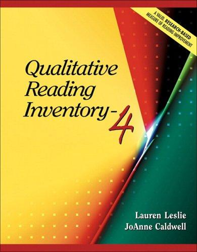 Qualitative reading inventory.