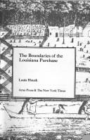 Download The boundaries of the Louisiana Purchase.