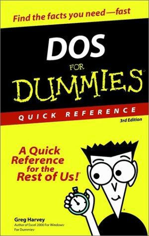Download DOS for dummies quick reference