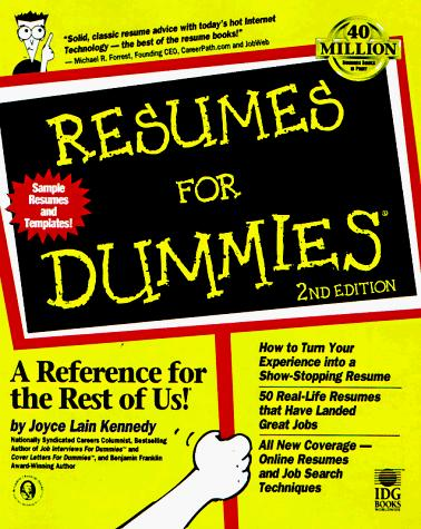 Download Resumes for dummies