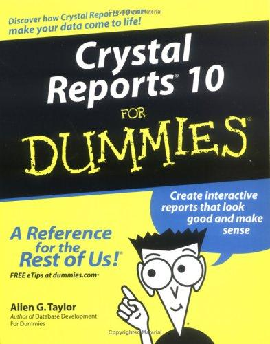 Download Crystal Reports 10 For Dummies