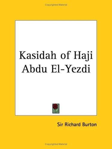 Kasidah of Haji Abdu El-Yezdi