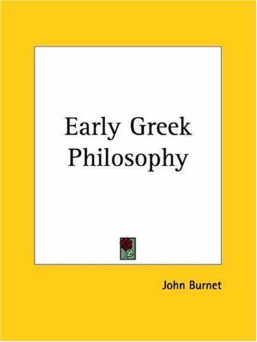 Download Early Greek Philosophy