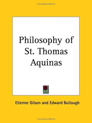 Download Philosophy of St. Thomas Aquinas